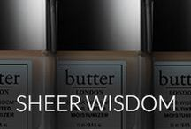 sheer wisdom / Inspired by our new, all-in-one tinted moisturizing treatment that protects nail integrity while delivering natural, healthy looking nails.
