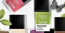Pantone Color of the Year 2017 Collection / The exclusive lacquers & lip gloss shades from butter LONDON + PANTONE, the global color authority. A limited-edition collection inspired by Greenery, the 2017 Color of the Year.