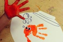 Children - Handprint Art / ...and footprint, and fingerprints! / by Samantha Crawford