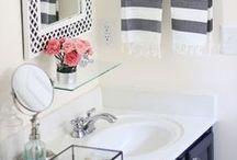 Bathroom / Bathroom and powder room decor and organization ideas