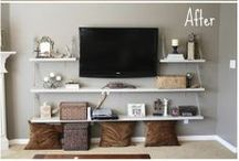 Living Room / Living room or family room decor and organization ideas and inspiration