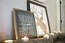 merry&bright. / christmas. decorations. crafts. / by Ali Cecil