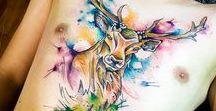 Tatuajes | Estilo acuarela para hombres / Inspírate con estas ideas de diseños para tatuajes en acuarela perfectos para un hombre