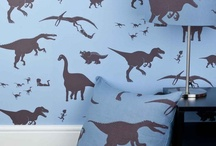 Dinosaur Bedroom Decor & Dinosaur Light Switches / Ideas For Decorating a Boys or Girls Dinosaur Themed Bedroom. Dinosaur Wallpaper, Dinosaur Bedding, Dinosaur Light Switches, Dinosaur Door Plaques, Wall Stickers, Lampshades. All Things Dinosaur Inspired.