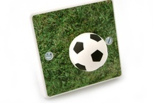 Football Themed Bedroom Ideas & football Light Switch Covers / Ideas For Decorating a Boys or Girls Football Themed Bedroom. Football Wallpaper, Bedding, Light Switches, Door Plaques, Wall Stickers, Lampshades. All Things Football Inspired.