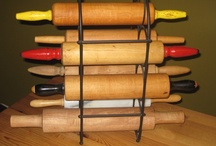Kitchen Rolling Pins / Rolling pins of all sizes, textures, shapes, and colors, used for rolling out all kinds of goodness and love. / by Terry Sutherland