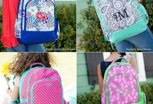 Back to School 2017 - Monogrammed Backpacks, Clothing, and Accessories / Monogrammed backpacks, book bags, pencil cases, lunch boxes, and everything you need for back to school!