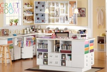 Craft Rooms I love / Ideas to incorporate into my dream craft room in my dream house / by Diana Walters