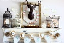 MY MANTELS / Changing up the mantel decor is so much fun! / by AKA DESIGN