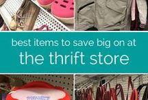{Thrifting} / Great tips for making those dollars stretch so you can buy everything you need and want!