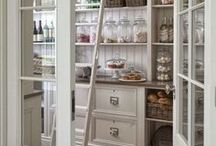 Gorgeous Pantry Ideas / Whether you have a tiny pantry or huge one - ideas for organizing it and making it pretty too! Bright pantry inspiration, organized panty ideas, pantry inspiration, pantry ideas, DIY pantry organization, farmhouse pantries, modern farmhouse kitchens, modern farmhouse pantry, how to organize your pantries, beautiful pantry inspiration, white pantry inspiration, neutral pantry inspiration, modern pantry inspiration, small space pantry, pantry organization tips