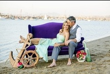 Nautical Weddings / I wanted to stay away from traditional nautical theme colors and needed to keep it simple so I went with the above decor & color palette! I love how the color pops against that purple couch!  CASSIE+BRYAN | Stand Up Paddle Engagement Session » CHARD photographer