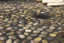 Bathroom/ shower floor pebbles stones