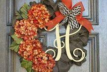 wreaths/porch decor / by Tina Scott