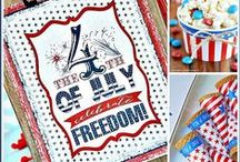 {4th of July: Independence Day} / Stars & Stripes, Red, White, and Blue... crafts, diy, decor, and recipes to let you celebrate your freedom as an American!