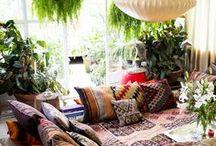 Bohemian Home Decor / Bohemian, eclectic, ethnic inspired home decor / interior design