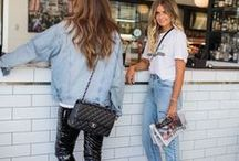 DENIM OUTFITS / Denim outfit inspiration by Pam Hetlinger from the fashion blog, The Girl From Panama. Denim style, casual style, LA style, denim jackets, light washed jeans, summer denim looks, how to wear denim, how to style denim, denim outfits, effortless style. {www.thegirlfrompanama.com}