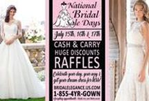 National Bridal Sale / Bridal Elegance is participating in the 1st Annual Nation-Wide, National Bridal Sale Day!  Instead of just one day shop these gorgeous gowns at special prices during our 3 day event! July15th, 16th, & 17th visit www.bridalelegance.us.com for more details. #Illinois