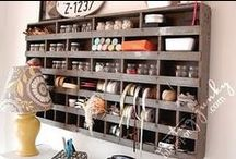 """Organizing Crafts / Trying to corral all the supplies and make a useable work space for the """"stuff"""" that comes with crafting and creating! / by Jamie Oliver {Walking In High Cotton}"""