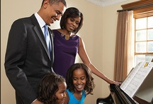 The President & First Family 2008-2016 / The Obama's - President Barack, First Lady Michelle, First Daughters Malia & Sasha & First Pets Bo & Sunny... / by Lisa