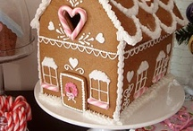 Gingerbread House party / Ideas for a sweet gingerbread house decorating party.