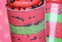 Watermelon party / Inspiration for a sweet watermelon theme summer party or picnic.