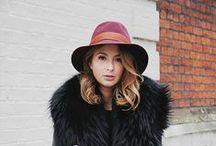 Fur Collar Street Style / Street style inspiration.