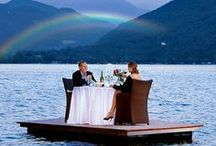 Lake Lugano & Private Beach / A private beach on Lake Lugano only for the guests of the San Marco Hotels.