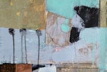 Patti Agapi Mixed Media Art / Abstract mixed media and collage art, Canadian Art, Canadian Artist, Orillia Art, Orillia Artist, contemporary Art, textured Art, working artist, collage art
