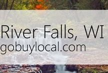 "River Falls, WI | Offers & Events / Businesses with ""heart"" thank you by donating to a school or cause you love. Get the Go Buy Local app or sign up at www.gobuylocal.com to save local + earn donations for your nonprofit!"