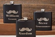 Groom & Groomsmens Gifts / Offering groomsmen gifts and gifts for the bestman matching any type of personality of your wedding party here at Kims Bridal and Gifts. Personalize many of our available gifts from barware, keychains, pub signs, to money clips making each one of our selection a treasured personalized groomsmen gift choice for the guys of your wedding party.  / by Kims Bridal & Gifts