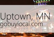 "Uptown Mpls | Offers & Events / Businesses with ""heart"" thank you by donating to a school or cause you love. Get the Go Buy Local app or sign up at www.gobuylocal.com to save local + earn donations!"