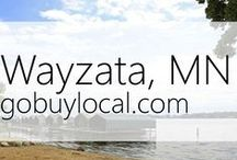 "Wayzata, MN | Offers & Events / Businesses with ""heart"" thank you by donating to a school or cause you love. Get the Go Buy Local app or sign up at www.gobuylocal.com to save local + earn donations!"