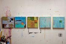 Patti Agapi Studio/Works in-progress/ETC / Patti Agapi Art work in-progress Mixed media abstract collage art, Canadian Artist, Contemporary Art