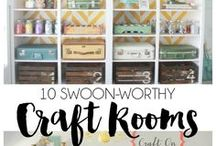 Craft Room Inspirations / Inspirational for organizing and decorating the perfect craft room and planner space