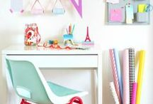Home Office Inspiration / Home office decor and organization. Inspiration for setting up the perfect planner girl Or girl boss space.
