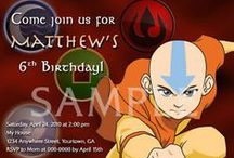 Avatar the Last Airbender / Birthday Party ideas for Avatar show.