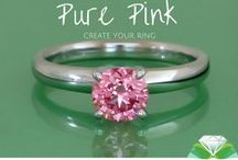 Pure Pink Diamonds / Pure pink grown diamonds and jewelry from Pure Grown Diamonds. http://www.puregrowndiamonds.com
