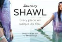 SHOP: JOURNEY shawl / This board captures The Journey Shawl's true essence which is versatility, femininity and a whole lot of creativity.  The Journey Shawl was specifically designed to be worn in over 12 ways. Inspired/created by mother nature, nothing does it better.