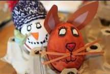 Easter handicrafts / Easter is just around the corner and we have invited kids to visit us and to decorate their children`s home in Rödelheim for Easter. Between delicious chocolate muffins and the brightly colored eggs, everyone had fun.