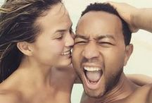 Chrissy Teigen + John Legend are the Cutest / Check out the best pictures of these goofy lovebirds.