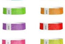 3/4 Inch Tyvek Wristbands / 3/4 Inch Assorted Solid Wristbands for all events and occasions!