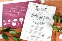 Wedding Invitations / Stylish and eco-friendly, these seed paper wedding invitations come in a variety of trendy themes for all wedding styles! Browse through this collection of photos to get inspired by the beauty of plantable wedding stationery.
