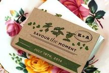 Wedding Favors / These eco-friendly seed paper wedding favors are made from 100% biodegradable materials and can be planted to grow wildflowers, herbs or veggies!