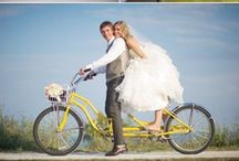 Vintage Bicycle Wedding Ideas / Every month we create an inspiration board for different wedding trends. We gather all the images we think inspire great creativity and style. This month, we fell in love with vintage bicycles. Here's our inspiration.