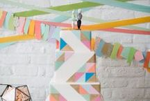 Geometric Wedding Ideas / Every month we create an inspiration board for different wedding trends; this month, it is geometric! We gather all the images we think inspire great creativity and style. Not all the images we find make our board, so here's a great place to check out ALL of the awesome ideas we came across.