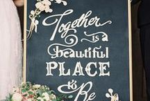 Rustic Chalkboard Wedding Ideas / Trendy and stylish, chalkboard designs are making a big impact in the wedding scene. Browse through some of these stunning images and get inspired by the chalkboard beauty!