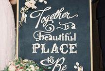 Rustic Chalkboard Wedding Ideas / by Botanical PaperWorks