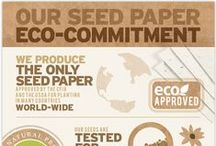 Our Eco-Commitment / Being an eco-friendly company is more than good business, it's simply good. We are dedicated to creating sustainable, eco-friendly seed paper wedding invitations, stationary, gifts and more.