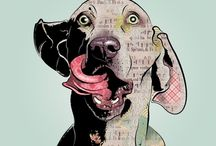 D O G Prints / Love for all things furry on paper.